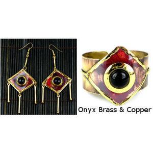Jewelry - Onyx, Brass & Copper